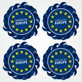 Made In Europe Badges Stock Photography