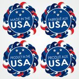 Made in the USA Badges Stock Photo