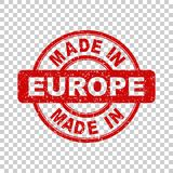 Made in Europe red stamp. Vector illustration on isolated background Royalty Free Stock Photo