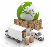 Made in Europe. Transportation. Vehicles for the transport of goods Royalty Free Stock Images