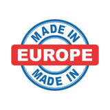 Made in Europe. Vector emblem flat Stock Photos