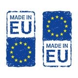 Made in European Union, EU vector letter stamp. royalty free illustration