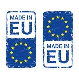 Made in European Union, EU vector letter stamp. Royalty Free Stock Image