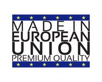 Made in European Union icon, premium quality sticker. With the colors of European Union, vector illustration isolated on white background Royalty Free Stock Image