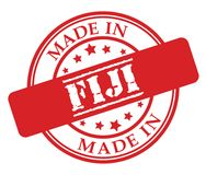 Made in Fiji red rubber stamp. Illustration vector on white background Stock Photos