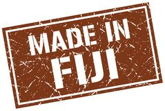 Made in Fiji stamp. Made in Fiji square grunge stamp isolated on white background. Fiji Stock Image