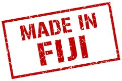 Made in Fiji stamp. Made in Fiji square grunge stamp isolated on white background. Fiji Royalty Free Stock Image