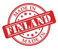 Made in Finland red rubber stamp. Illustration vector on white background Stock Image