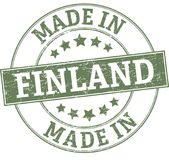Made in finland round seal. ROUND STAMP IN GRUNGY STYLE Royalty Free Stock Photography