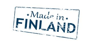 Made in Finland. Rubber stamp with text made in Finland inside,  illustration Royalty Free Stock Photos