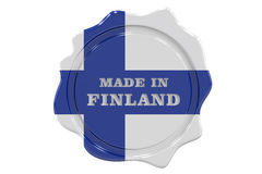 Made in Finland seal, stamp. 3D Royalty Free Stock Image