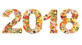 2018 made of food Stock Images