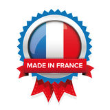Made in France badge with ribbon Royalty Free Stock Photo