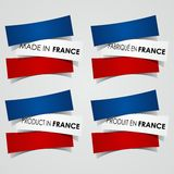 Made in France Badges Stock Image