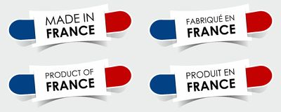 Made in France Badges Royalty Free Stock Photos