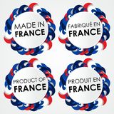 Made in France Badges Stock Photo