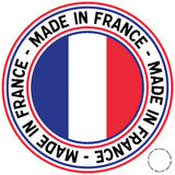 Made in France Circular Decal. A Made in France rubber-stamp like circular decal stock illustration