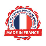 Made in France grunge printable label. Royalty Free Stock Image