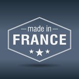 Made in France hexagonal vintage label Royalty Free Stock Photography