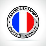 Made in france icon french translation royalty free illustration