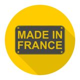 Made in France icon with long shadow Stock Photo