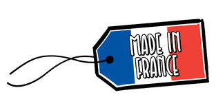 Made in France Label. Royalty Free Stock Photography