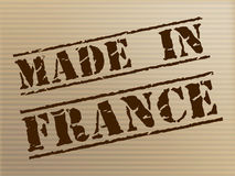 Made In France Means Euro Manufacture And Commercial Stock Image