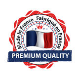 Made in France. Premium Quality, because we care Royalty Free Stock Image