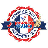 Made in France. Premium Quality, because we care Royalty Free Stock Photo