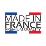 Made in France, premium quality sticker with French color. French ribbon, vector illustration Royalty Free Stock Photos