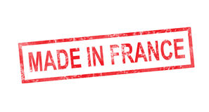 MADE IN FRANCE red rectangular stamp Stock Photography