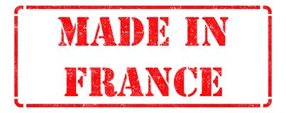 Made in France - Red Rubber Stamp. Royalty Free Stock Photo