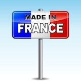 Made in france signpost Royalty Free Stock Photo