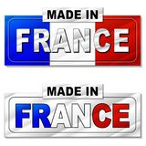 Made in france silver icon vector illustration