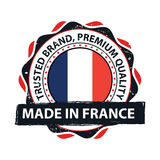 Made in France, Trusted Brand, Premium Quality  printable banner / sticker Royalty Free Stock Photos
