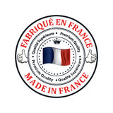 Made in France, Trusted Brand, Premium Quality  printable banner / sticker Stock Photography
