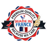Made in France, Trusted Brand, Premium Quality  printable banner / sticker Royalty Free Stock Images