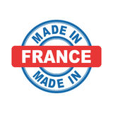 Made in France. Vector emblem flat Stock Images