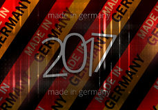 2017 made in germany background german modern abstract flag. Graphic illustration design Vector Illustration