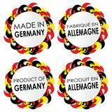 Made In Germany Badges Stock Photography