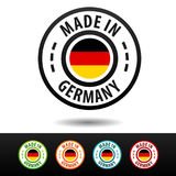 Made in Germany badges with German flag. Flat Eps10 Vector Royalty Free Stock Images