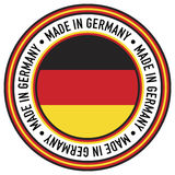 Made in Germany Circular Decal. A Made in Germany rubber-stamp like circular decal stock illustration