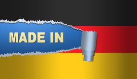 Made in Germany, flag, illustration. Made in Germany, flag,best illustration Royalty Free Stock Photo