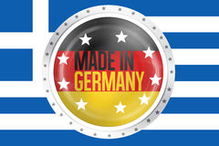 Made in germany greek germany Stock Image
