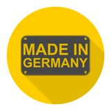 Made in Germany icon with long shadow Stock Images