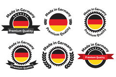 Made in Germany labels and badges. Royalty Free Stock Photo