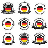 Made in Germany labels and badges. Stock Images