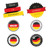 Made in Germany labels, badges and stickers Stock Photography