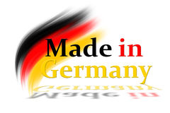 Made in germany. Logo with bruhses and text in german colors royalty free illustration