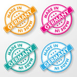 Made In Germany paper labels. Free shipping colorful paper labels. Eps 10 file vector illustration